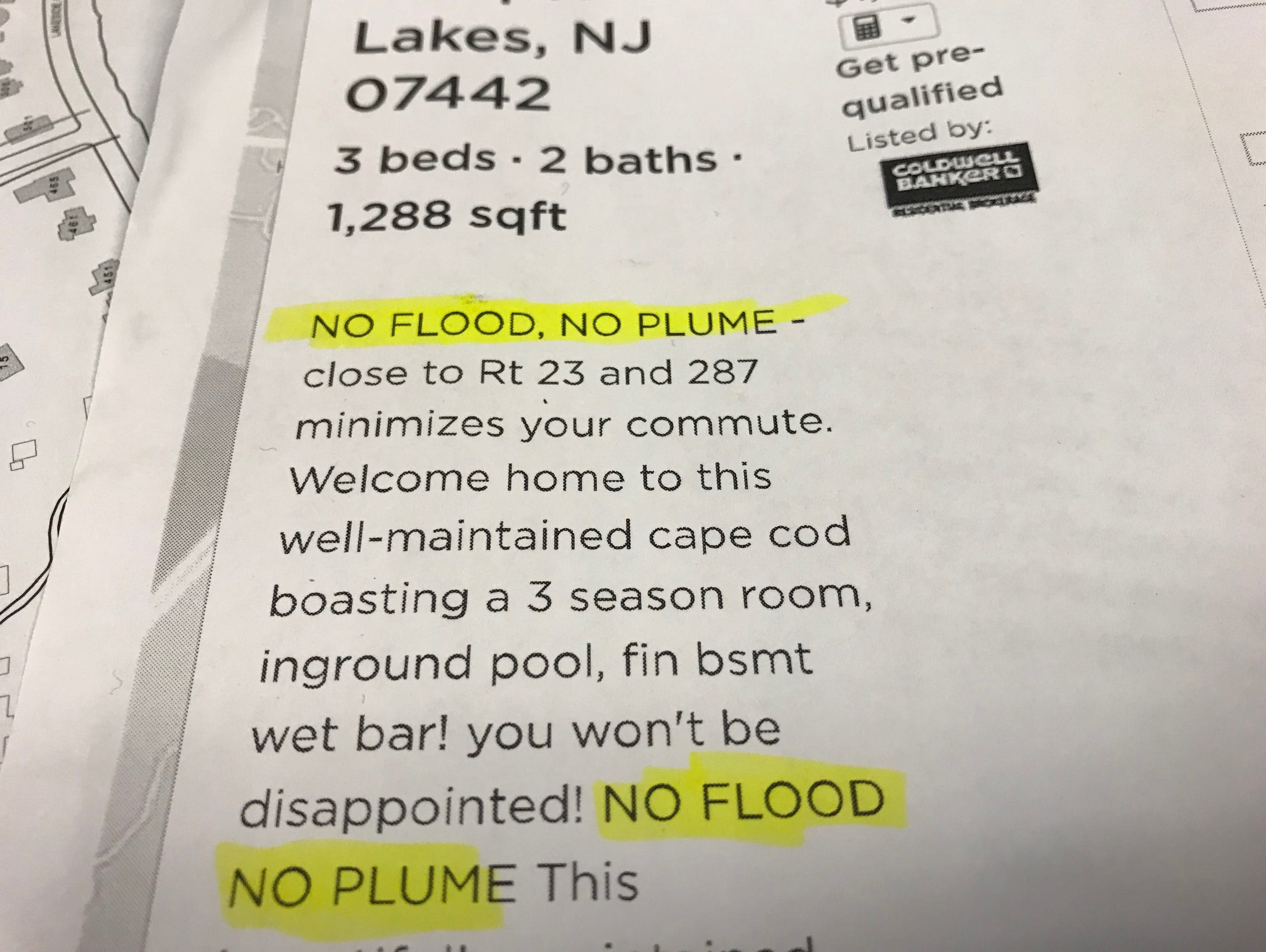 This is a recent real estate ad for a Pompton Lakes