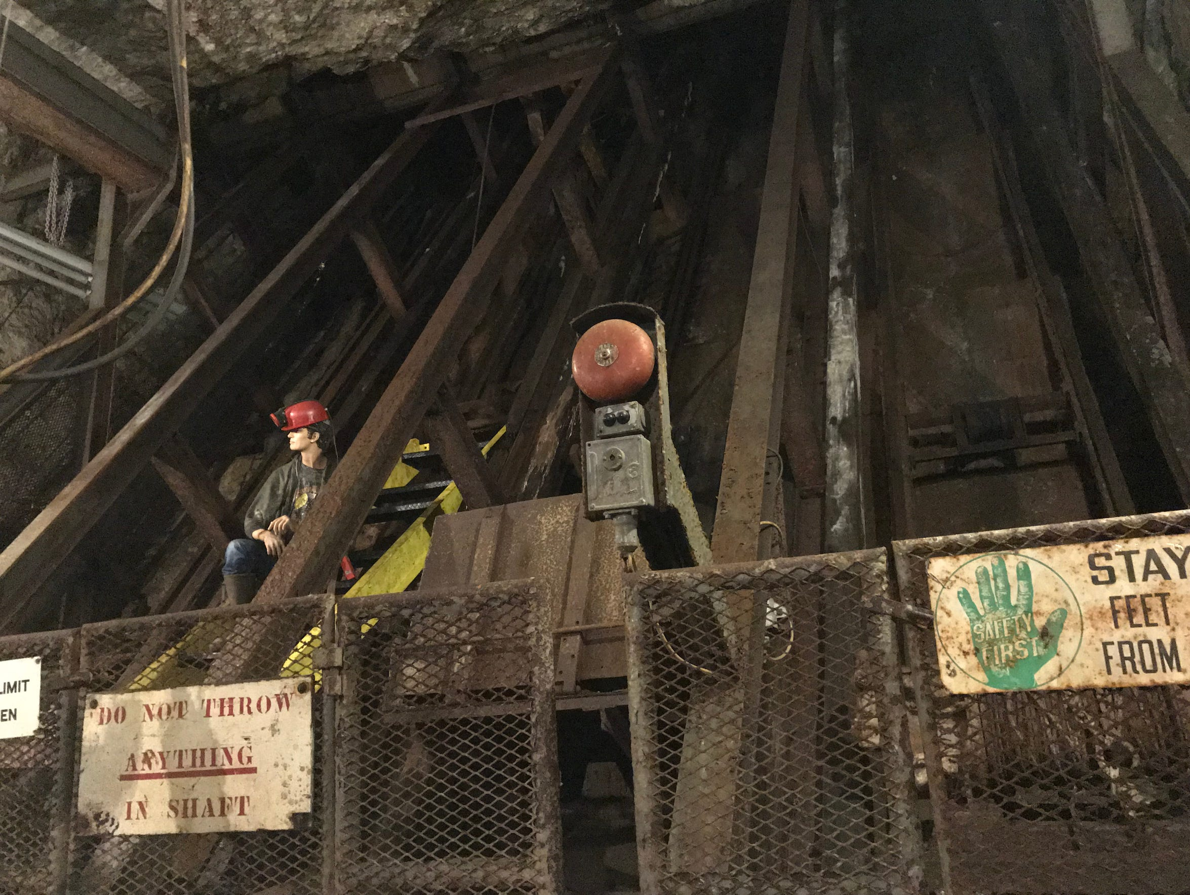 A massive mine shaft at Sterling Hill carried everything