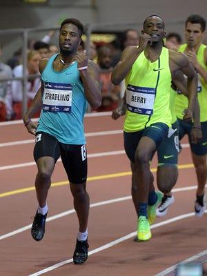 Former Webster Schroeder three-sport athlete Brycen Spratling set a world record at the Millrose Games on Feb. 15 in New York City.