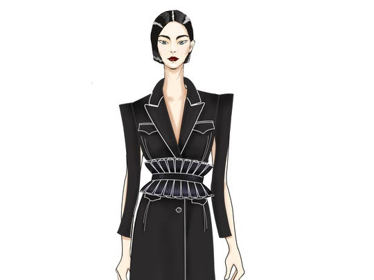 Preview for New York Fashion week 2017 Taoray Wang SS18 sketch.