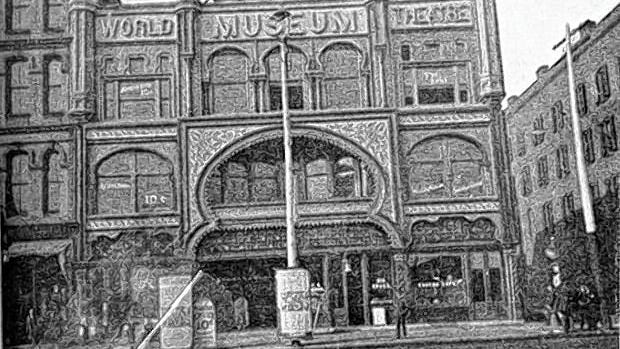The World Museum, one of Columbus' early museums, stands at 217 N. High St. in an 1890 photo.