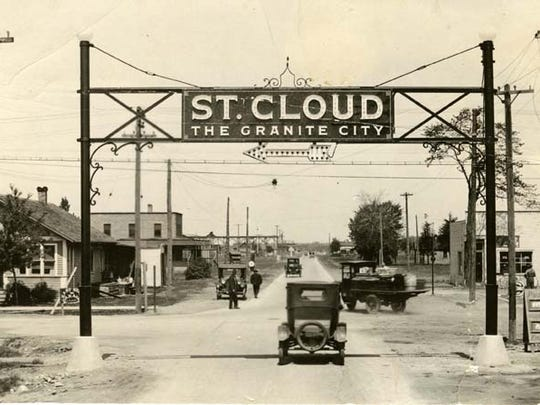 Taken in 1923, this photo shows the gateway sign for St. Cloud, which straddled East St. Germain Street on Lincoln Avenue.