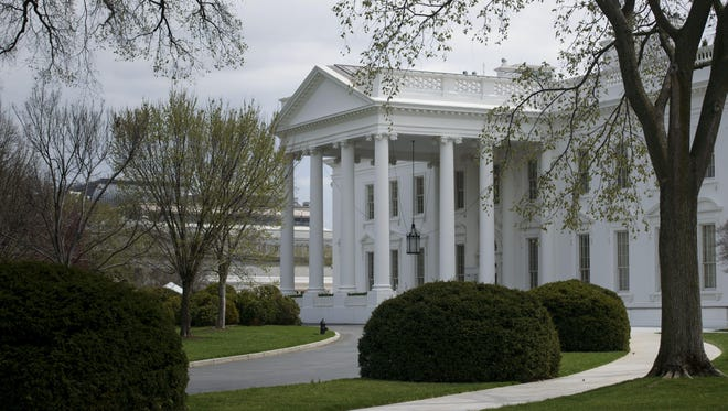 A view of the White House seen on April 7, 2015 in Washington, D.C.