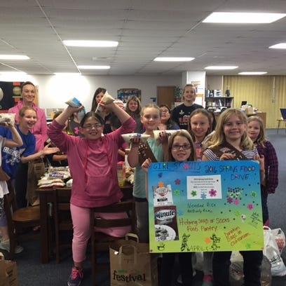 Girl Scout Troops 6227 and 6218 recently held a food drive at Auburndale Elementary School for Soup or Socks food pantry in Marshfield. Each year, one item is requested and this year it was rice. In all, 530 pounds of rice were collected. Brittany Hoffa's first-grade class alone collected 102 bags of rice.