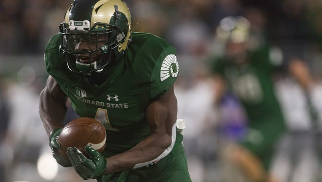 CSU wide receiver Michael Gallup is rated as Pro Football Focus' top-rated receiver in the nation through Week 7. He's receiving national attention for his 263-yard, three-touchdown performance in a win over Nevada on Saturday.