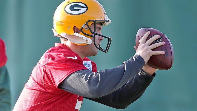 Green Bay Packers Green Bay Packers quarterback Joe Callahan (6) during practice Wednesday, November 8, 2017 at Clarke Hinkle Field in Ashwaubenon, WIs.