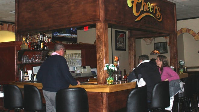 Customers enjoy the ambiance at the new Cheers Bar and Grill in Seneca.