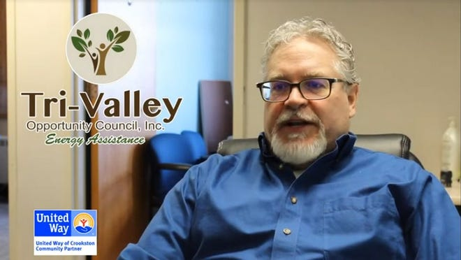 Tri-Valley's Chris Waetcher is pictured in a thank you video to United Way of Crookston.