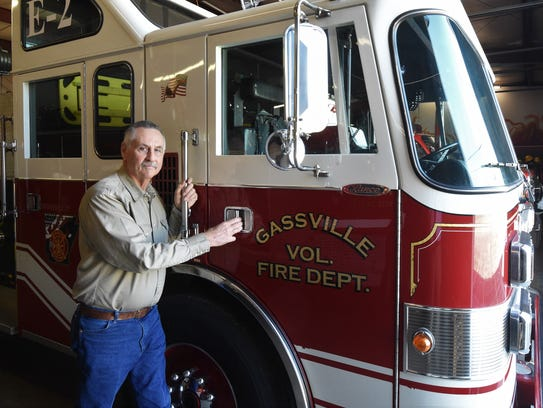 Former Gassville Fire Chief Bill Johnson joined the
