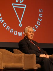 Former Indiana Sen. Richard G. Lugar waits for the