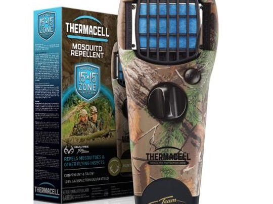 This portable Thermacell unit will help keep mosquitoes