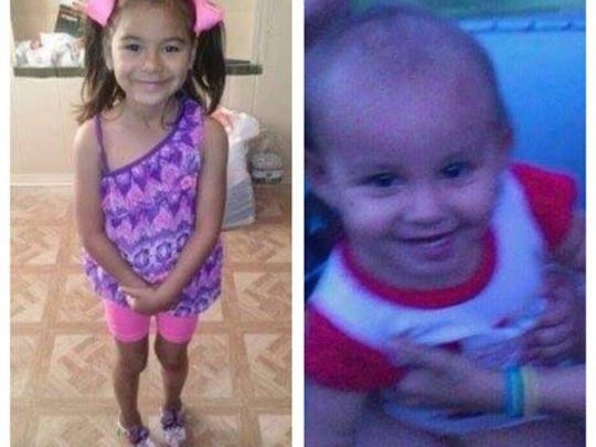 Nevaeh Oliva, 6, and Lillyanna Valent, 2, were killed in a shooting Feb. 16, 2014.