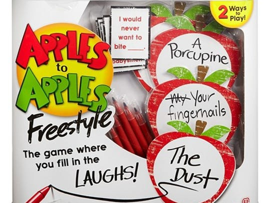 Apples to Apples Freestyle is a twist on the favored