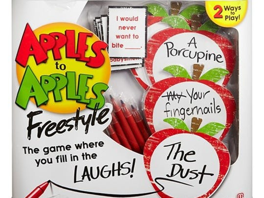 Apples to Apples Freestyle is a twist on the favored game.