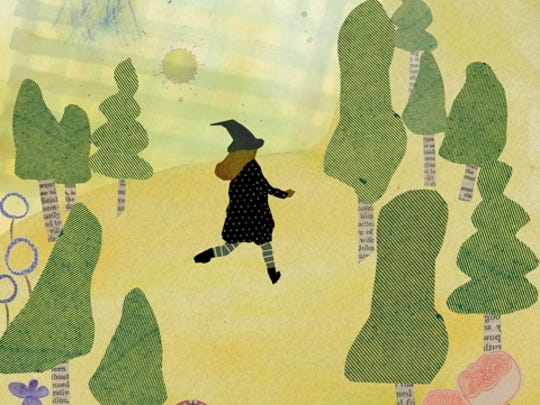 """A collage for Carla Stine's book titled """"Avery, Sage, and the Bad Witch."""""""