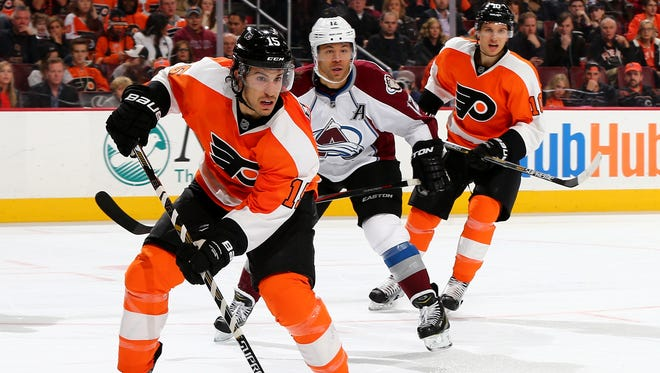 Michael Del Zotto and the Flyers beat the Avalanche in their last visit to Philadelphia, which was almost a year ago to the day.