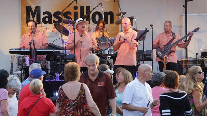 LaFlavour performs during a previous Summer Concert Series in downtown Massillon. The band returns to the city for three-straight daily shows starting Nov. 6 at Lions Lincoln Theatre, 156 Lincoln Way E.
