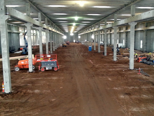inside the now-enclosed Gage Brothers manufacturing