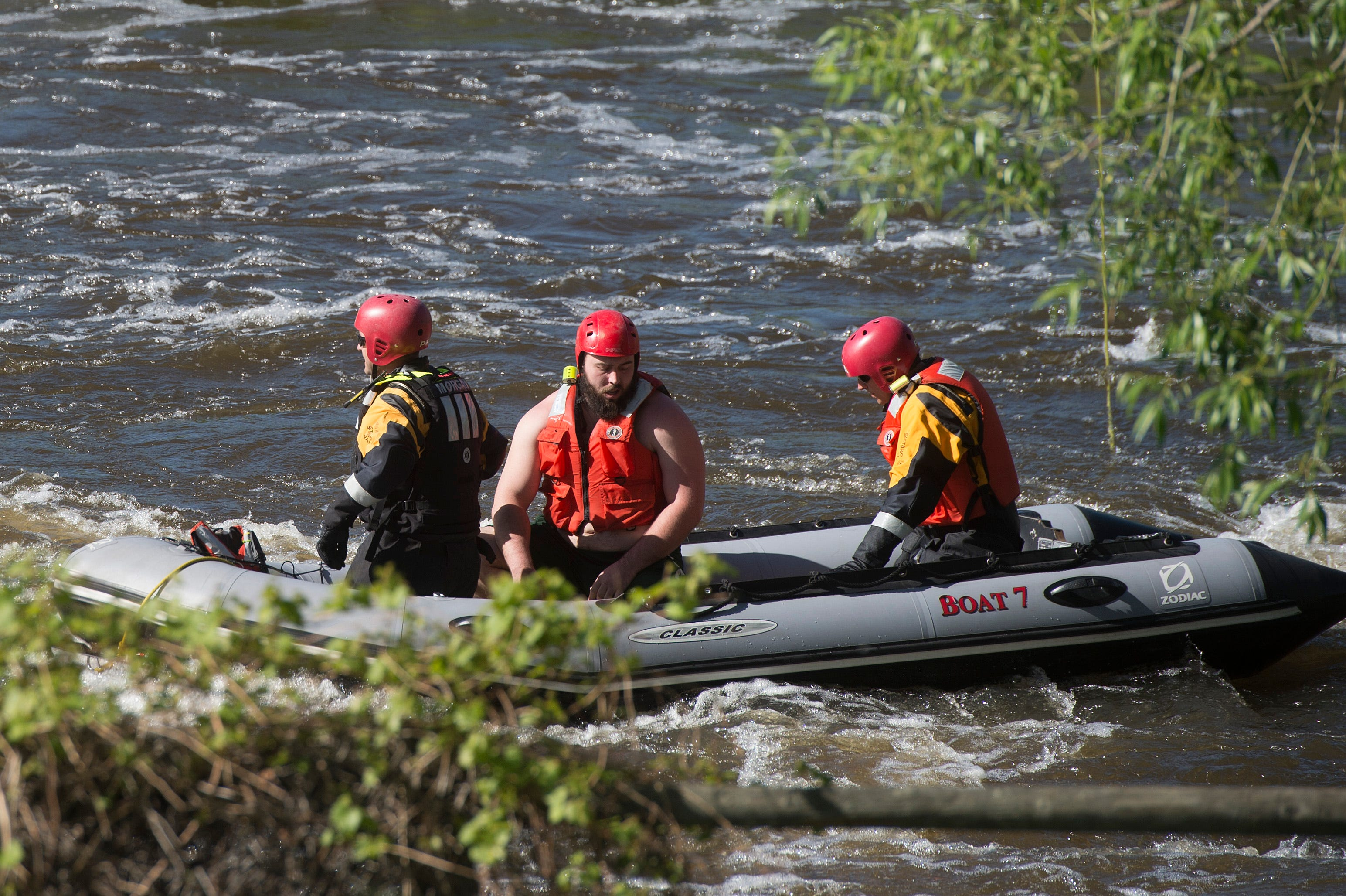 Woman rescued from the river