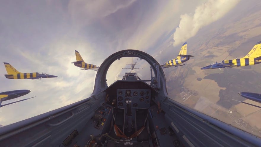 Jump in a fighter jet and go stunt flying in VR