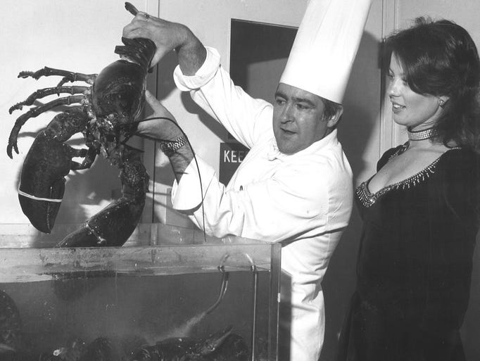 From 1976: Harrah's chef Julius Weiss and waitress