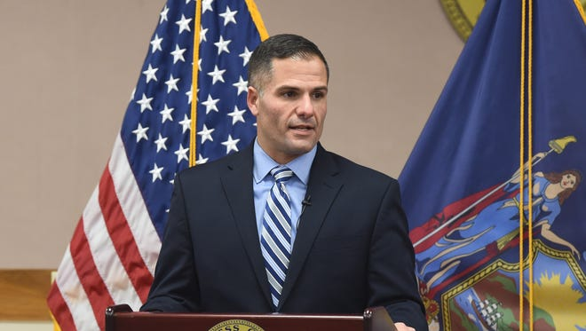 Dutchess County Executive Marc Molinaro gives his address to the county legislature on the tentative 2017 county budget.