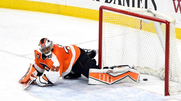 Ray Emery made 30 saves in his last game, a 3-2 shootout loss to the Buffalo Sabres last Thursday.