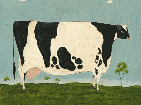 """""""Vermont Cow"""" by Warren Kimble is part of an exhibit on display through Oct. 18 at the Henry Sheldon Museum in Middlebury."""