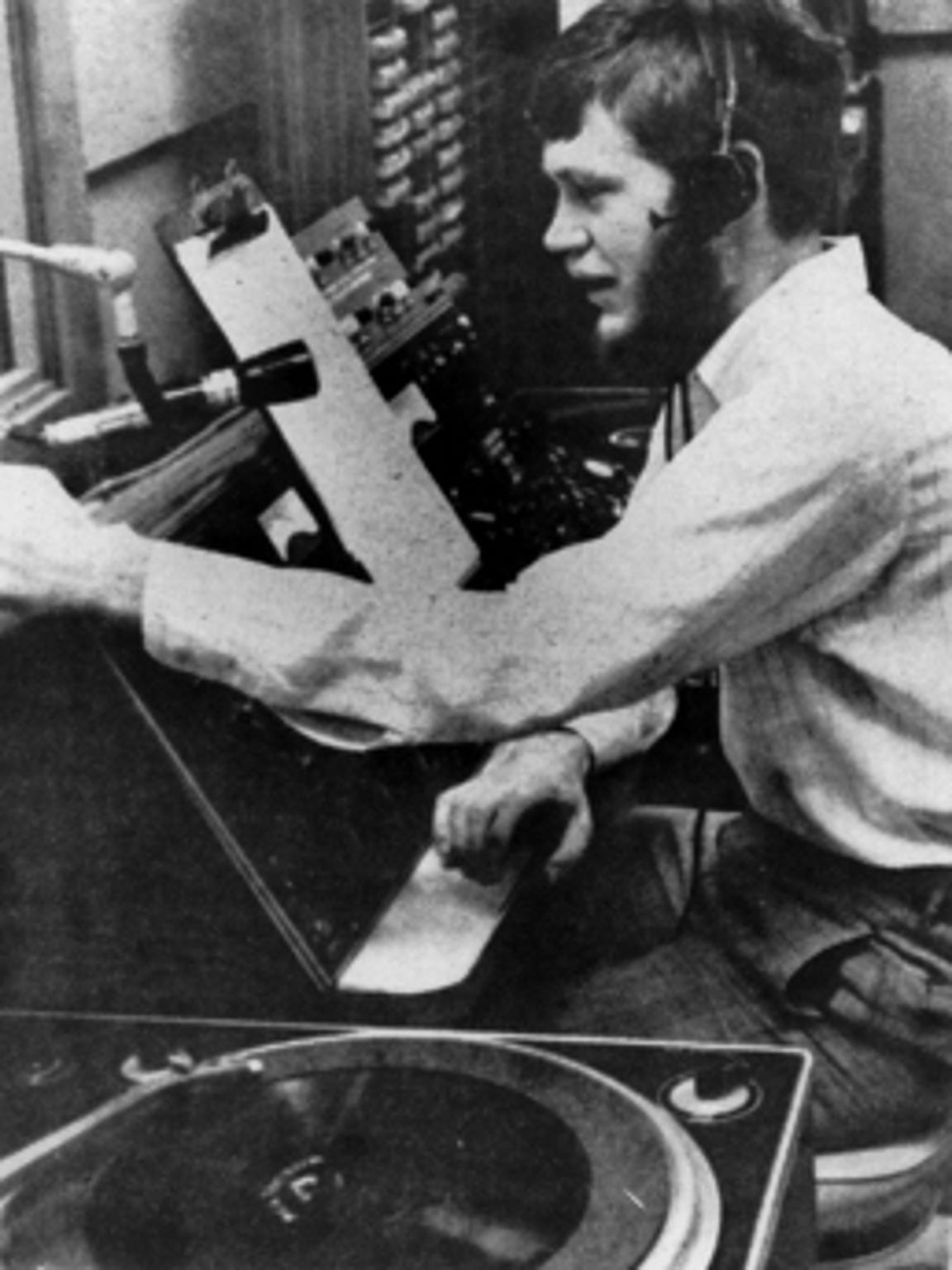 In 1968 Letterman worked as a disc jockey for WBST,