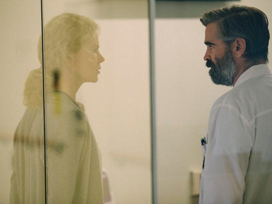 "Nicole Kidman and Colin Farrell play spouses in ""The Killing of a Sacred Deer."""