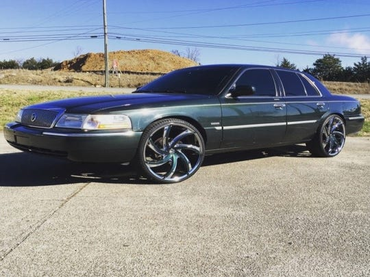 Joshua Simmons was seen driving this car in a Tuesday shooting in La Vergne.