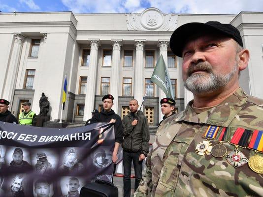 UKRAINE-RUSSIA-CONFLICT-VETERANS-DEMO-DEFENCE