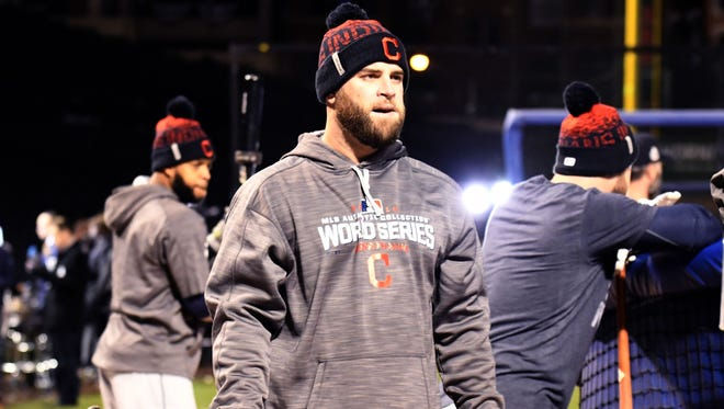 Mike Napoli started Cleveland's first 11 games of the postseason.