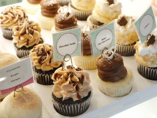A variety of cupcakes at Gigi's Cupcakes, 170 South