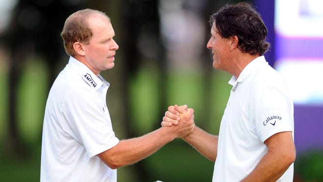If Phil Mickelson (right) is playing, he will be paired with Steve Stricker in the first and second rounds of the U.S. Open.