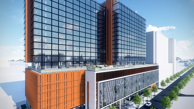 Kenect Nashville, a collection of 420 apartments and shops, is expected to open next year.