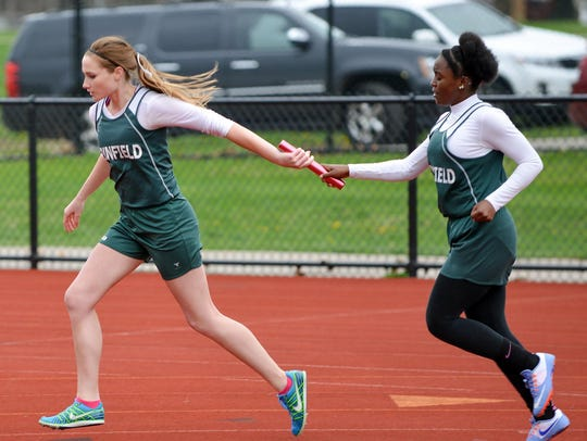 The Pennfield 800-meter relay team.