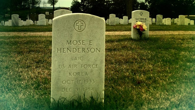 A view of the grave of Mose Henderson, Stephen Henderson's father.