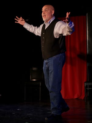 Actor Peter Sham tells a story Thursday at Off the Cuff comedy club in Cedar City.