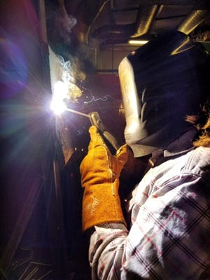 Travis Hart, welding instructor, said he is happy with how the program is progressing and the students are working hard to figure it all out.