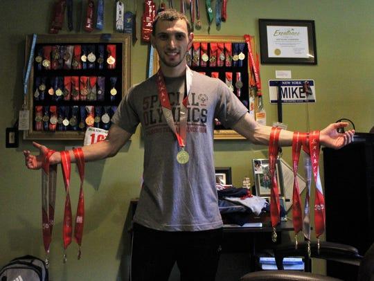 Swimmer Michael Lehrer represents Old Bridge, New Jersey