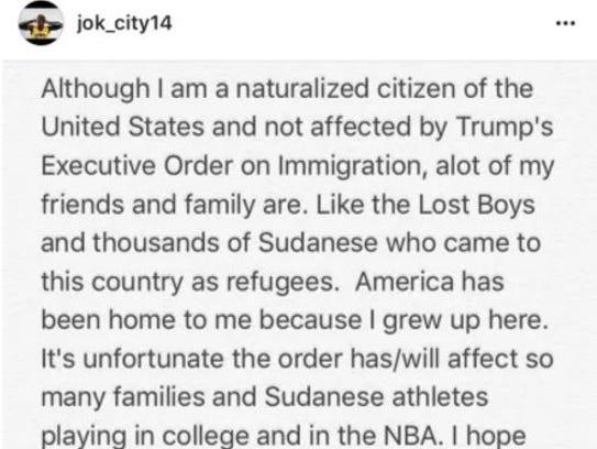 Iowa senior Peter Jok took to Instagram on Sunday to