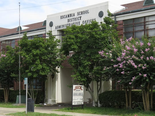 The former administrative headquarters of the Escambia County School District could be developed into mixed-use space.