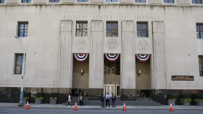 The Theodore Levin United States Federal Court House site of the Detroit Bankruptcy hearings Wednesday, July 24, 2013.                       , July 17, 2013 at Frank Murphy Hall of Justice in Detroit.   Kirthmon F. Dozier/Detroit Free Press