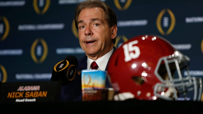 Nick Saban and Alabama will be going for their fourth national title in the last seven years.