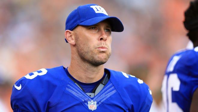 Giants kicker Josh Brown