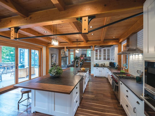Custom cabinetry from New Energy Works' fine woodworking