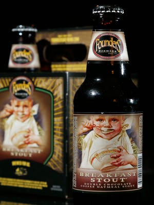 Founders Brewing Breakfast Stout is photographed in North Andover, Mass., Thursday, Jan. 15, 2015.