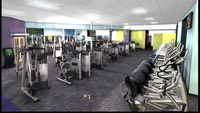 Rendering of Anytime Fitness at 50 W. Liberty St. in downtown Reno.