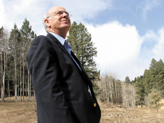 In this 2011 file photo, Congressman Steve Pearce tours the Lincoln National Forest after holding a public meeting on logging in the Sacramento Mountains. Pearce has thrown his hat in the ring for the 2018 primary governor's race.